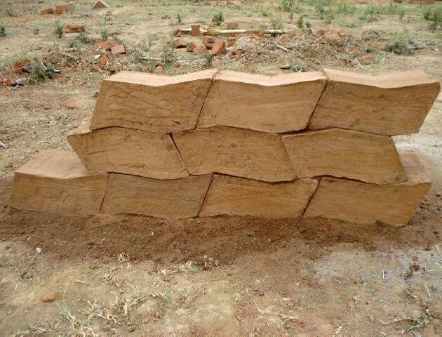 Compressed Wood Bricks ~ Compressed earth block design architecture pinterest
