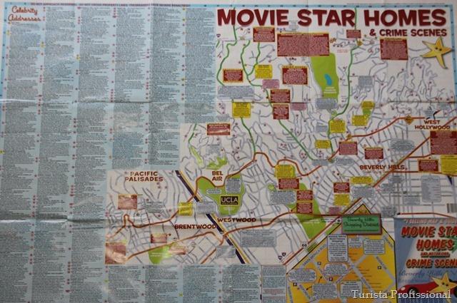 Tour pelas casas de astros e estrelas de Hollywood