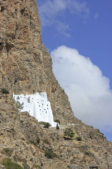 Hozoviotissa Monastery in Amorgos island, Greece. Takes your breath away...