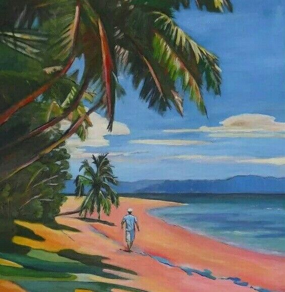 Oil painting art beddara island by JAG.GC