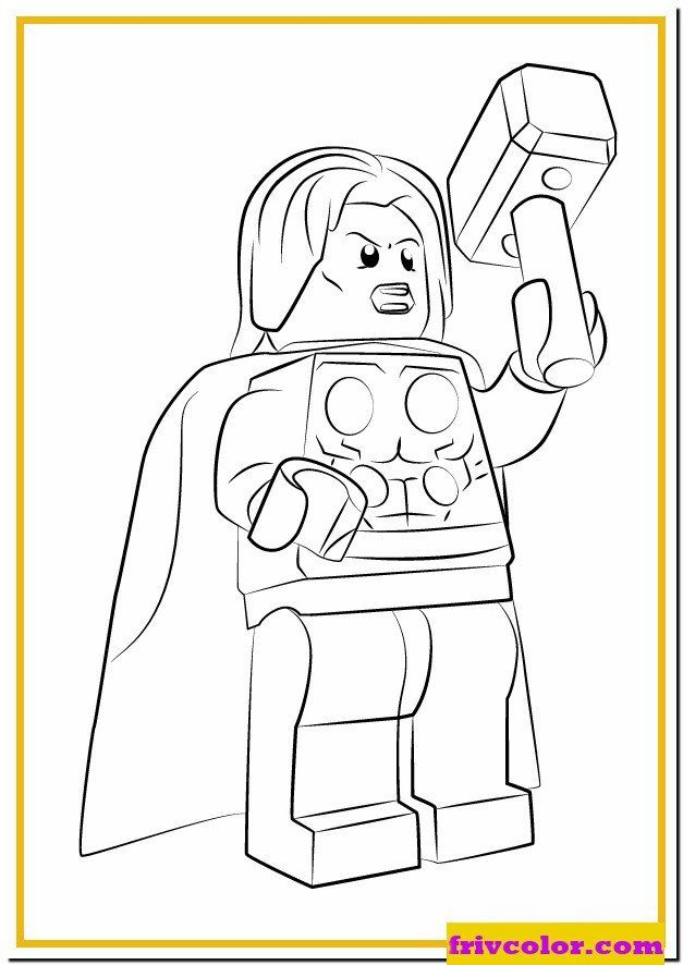 Lego Superheroes Coloring Pages Lego Marvel Thor Avengers ...