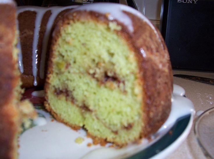 Pistachio Nut Swirl Cake (low calorie alternative)
