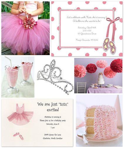 CUTE ideas for Ballerina party