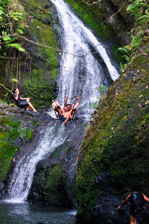 Wigmores Waterfall, Rarotonga, Cook Islands.  For your luxury holiday, tropical wedding or honeymoon visit www.rumours-rarotonga.com/