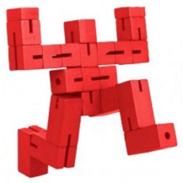 Puzzleman blauw, rood of groen   Verwende apen