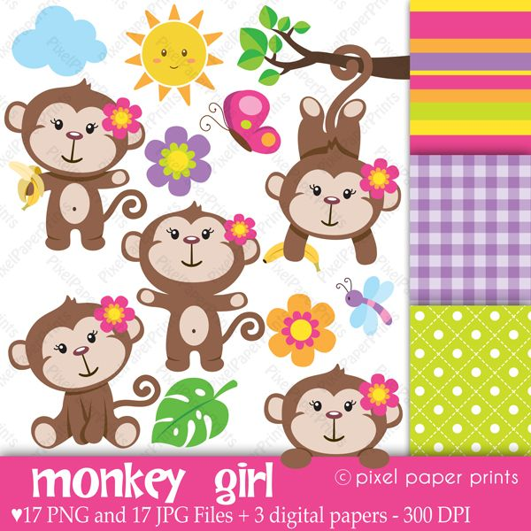 """his is a set of 17 PNG files with transparent background, 17 JPG FILES and 3 different digital paper designs. The digital papers are 8.5""""x11"""" JPG files. All these files are watermark-free."""