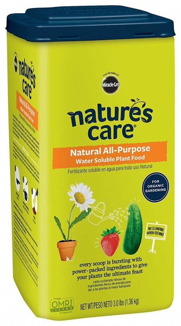Nature S Care Natural All Purpose Organic Water Soluble Plant Food Fertilizer 3 Lb Gardening Vegetablegardening Organic Water Plant Food Healthy Plants