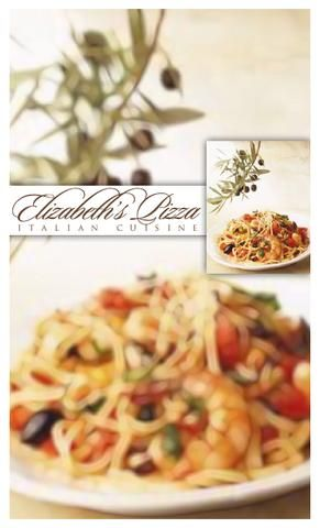 Elizabeth Pizza Friendly Menu Sept 2011  cuisine italian