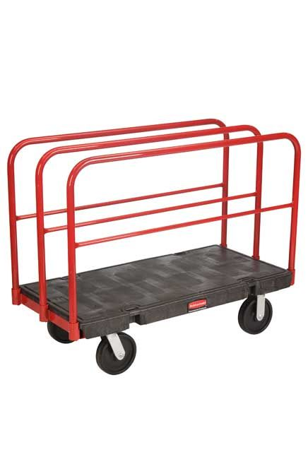 """Handling Truck with Removable Frame and 8"""" Wheels: Working cart with removable vertical frame and 8"""" wheels"""