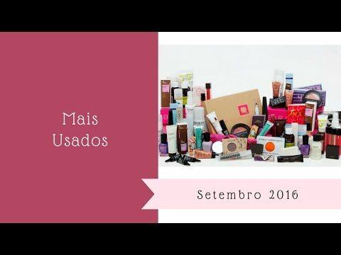 """Mais Usados (Setembro 2016) e respondendo à pergunta: """"Que química(s) tenho no meu cabelo? Vídeo mostrando os produtos mais usados no mês de agosto. https://youtu.be/RQud8LniOww"""