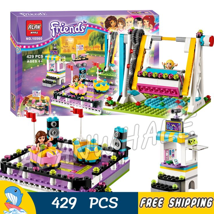 ==> [Free Shipping] Buy Best 429pcs New Friends Amusement Park Series 10560 Bumper Cars Model Building Blocks Bricks Girls Princess Toys Compatible With Lego Online with LOWEST Price | 32723446737