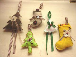 SotiriasCrafts: Χριστουγεννιάτικα γούρια από τσόχα