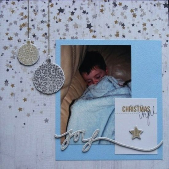 Christma Joy page created with Teresa Collins, Tinsel and Company collection by Teena Hopkins for My Scrappin' Shop.