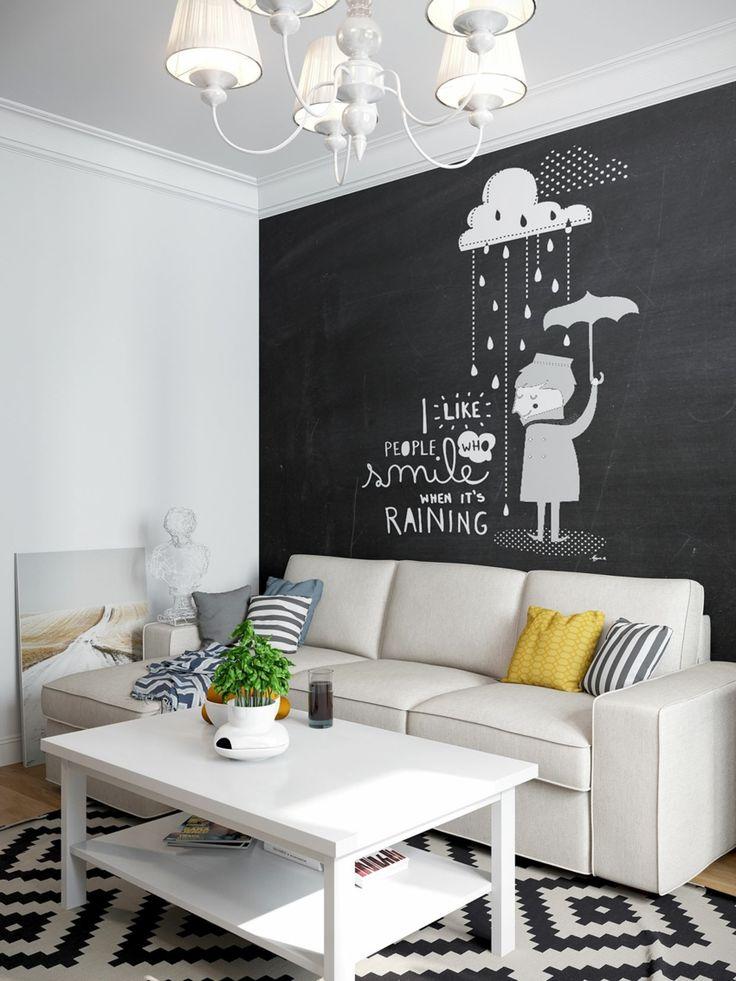 Jugend-Style Skandinavisch schwarze Tafel quotes Zitate Tisch Sofa Hängeleuchte