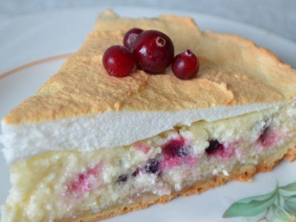 Творожный пирог с брусникой — vkusno.co
