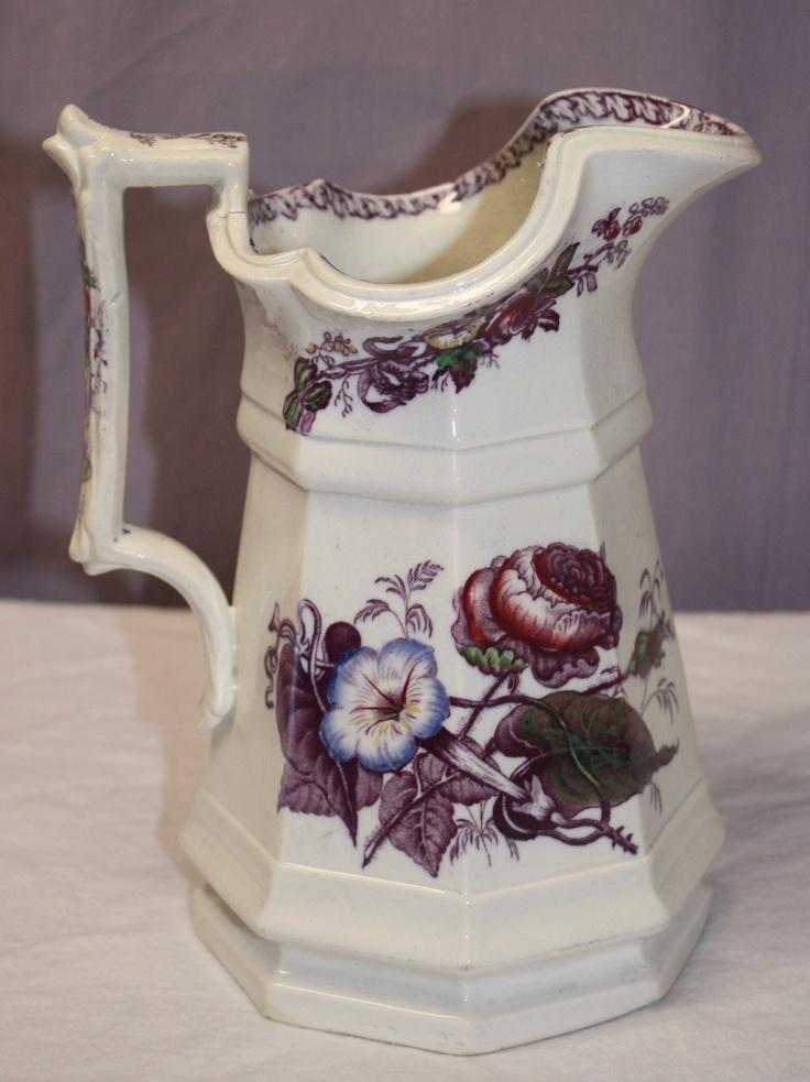 lavender purple toile transferware - photo #25