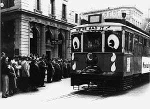 September 18th, 1955 was the last day street cars ran in Winnipeg.