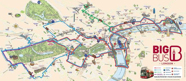 Map Of London Hop On Hop Off Bus Tour With Big Bus London Tourist Tourist Map London Bus Map