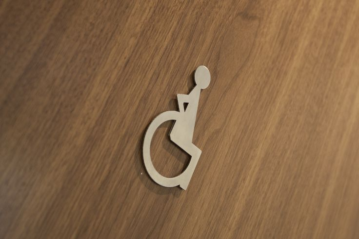 Disabled toilet signage