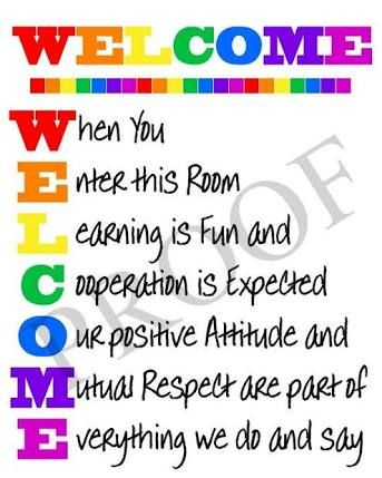 Image result for welcome to the classroom door