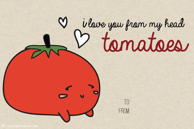 How can you resist this face?!   10 Printable V-Day Cards With Food Puns So Bad They're Almost Good
