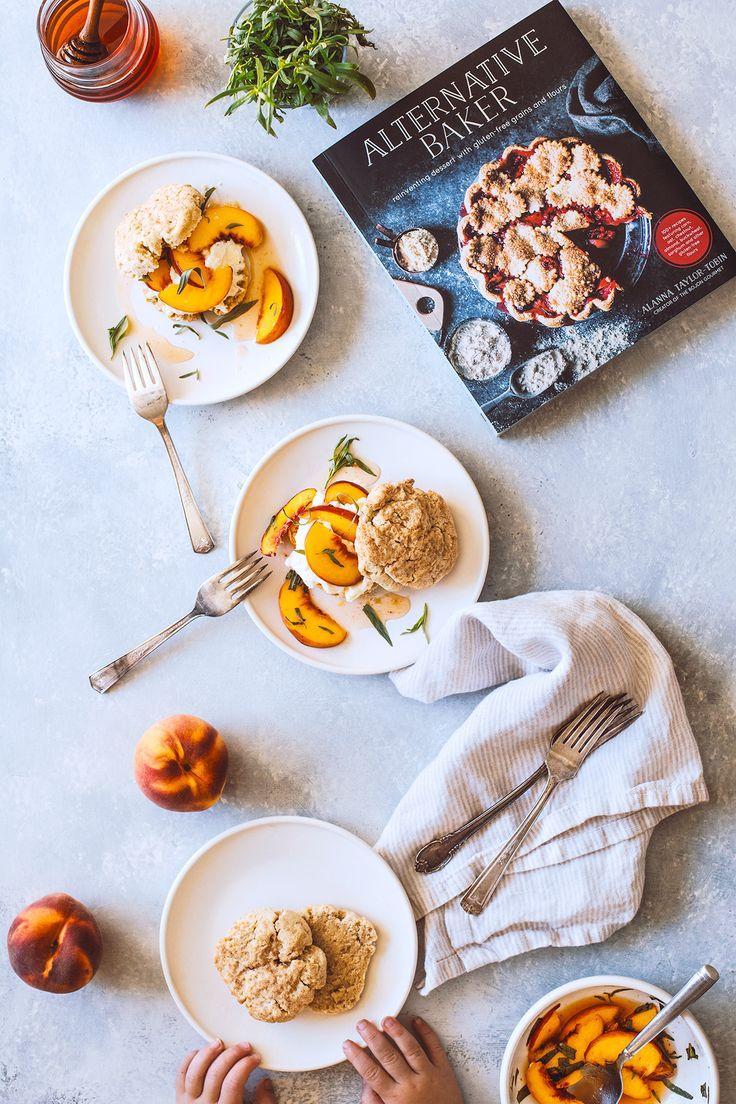 Lemon Ricotta Shortcakes with Peaches & Mascarpone Cream (Gluten Free)