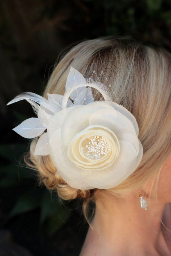 bridal hair flower