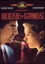 House-of-Games - Lindsay Crouse plays the part of a psychologist who's studying the art of grifting behavior and becomes seduced by her subject.