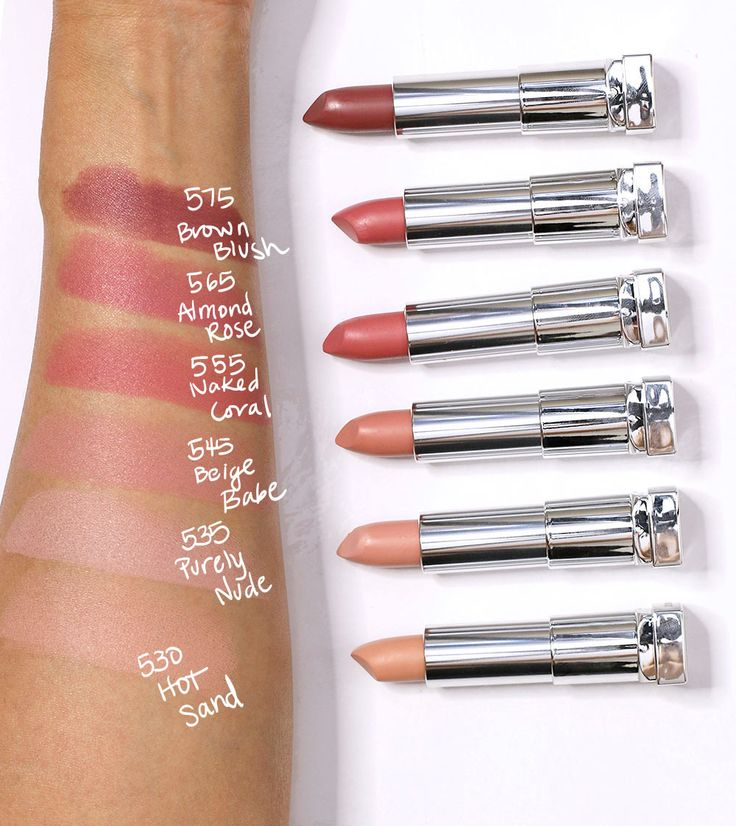 maybelline color sensational inti matte nudes swatches