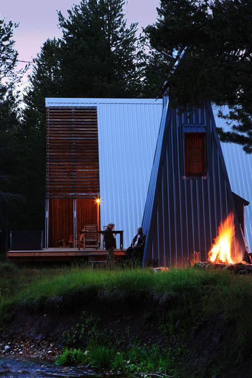 cabin rentals a door to the wild a frame cabinmodern - Modern A Frame