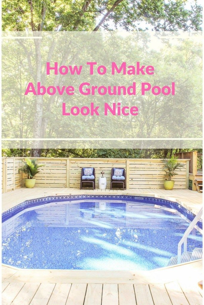 How to Make an Above Ground Pool Look Inground – Pool Deck Ideas – Marisa Oriente