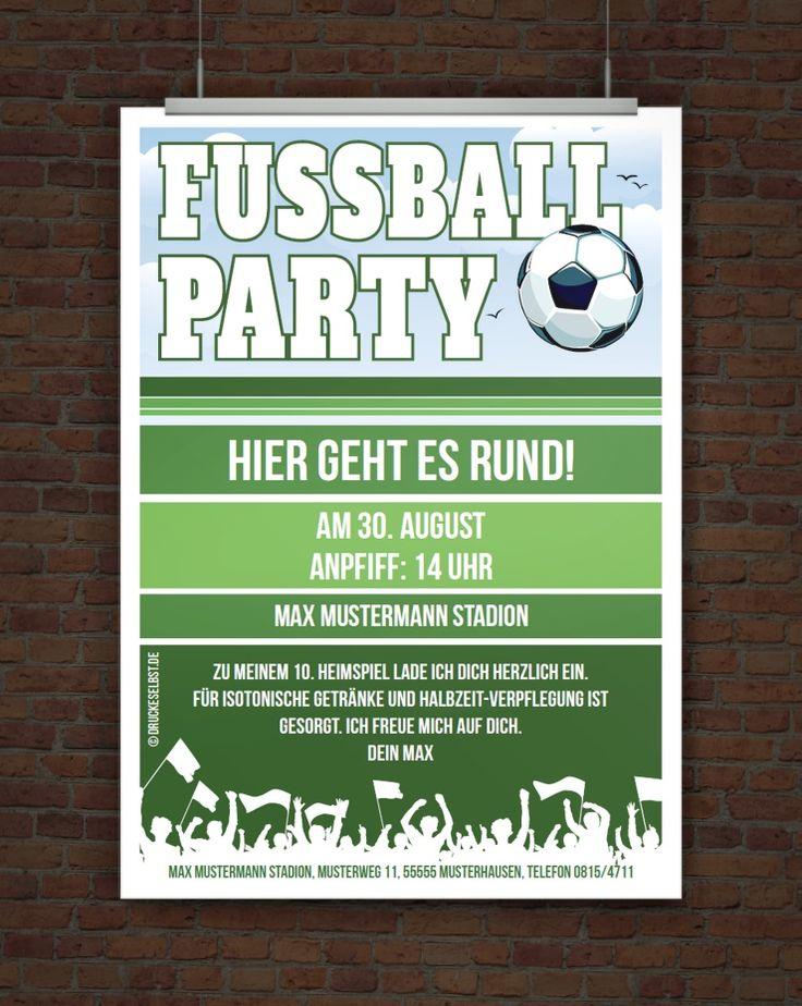 Kostenlose Fussballeinladung. Kindergeburtstag FußballFußball ...