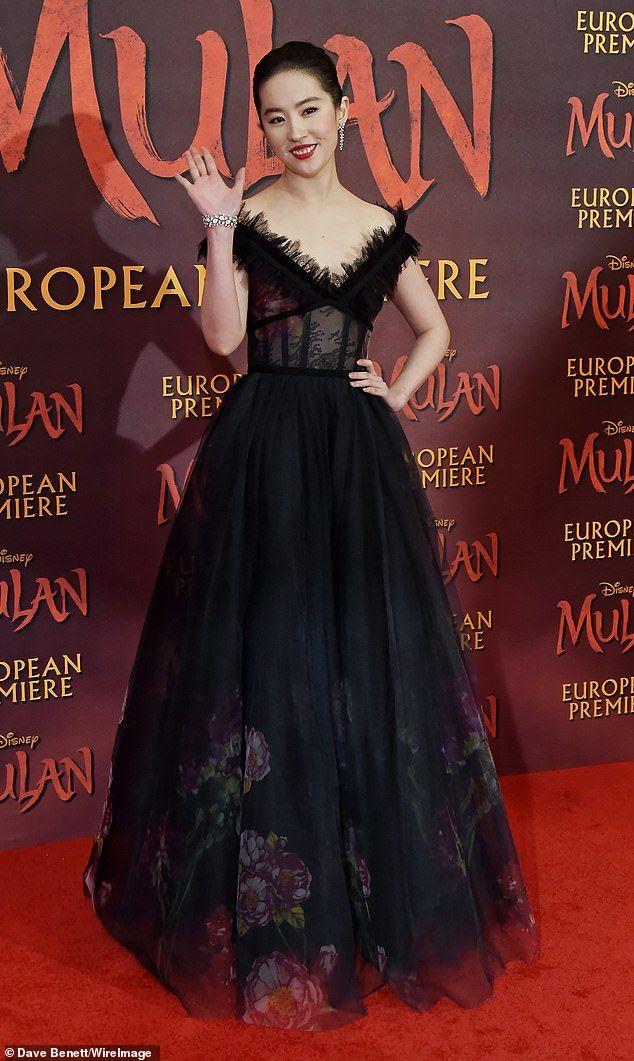 Liu Yifei walks the red carpet at Mulan premiere in 2020