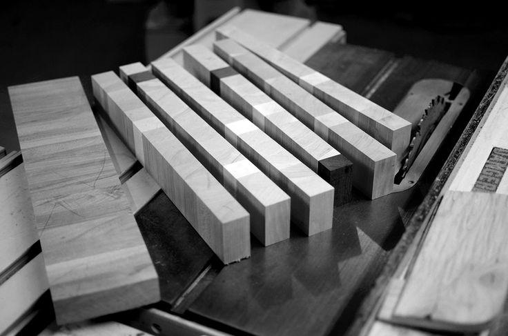 Butcher block en construction / Making a butcher block #butcherblock #blocdeboucher #blocpoisson