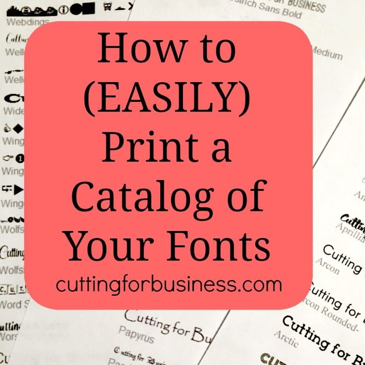 Learn how to quickly and easily print a catalog of the fonts installed on your computer.