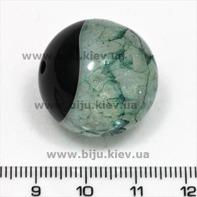 Бусины из агата с кристаллами зеленые - натуральный агат - окрашенный агат - бусины круглые - бусины 24 мм - купить бусины