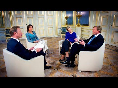Interview Prins van Oranje en Prinses Máxima - 17 april 2013