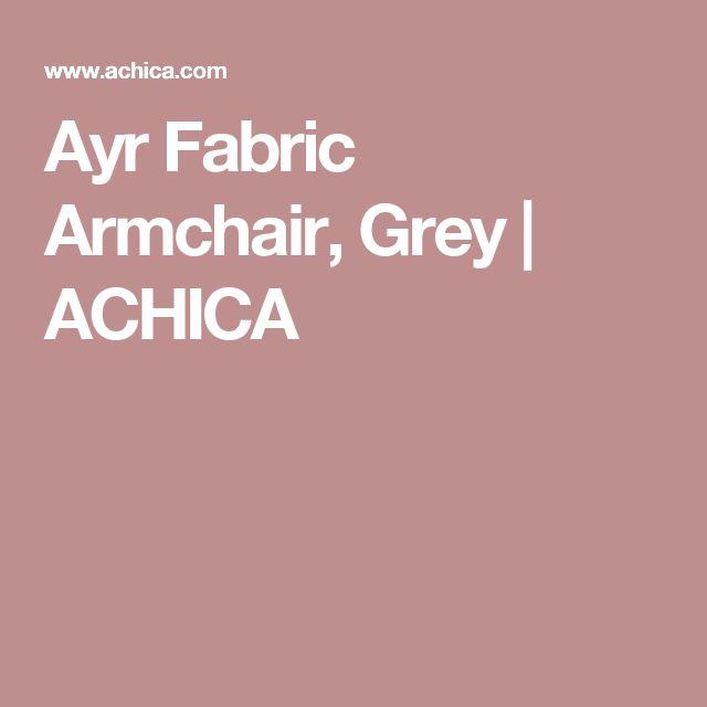 Ayr Fabric Armchair, Grey   ACHICA
