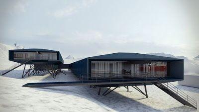 Innovación Tecnológica: Diseño futurista en la arquitectura de la Antártic...