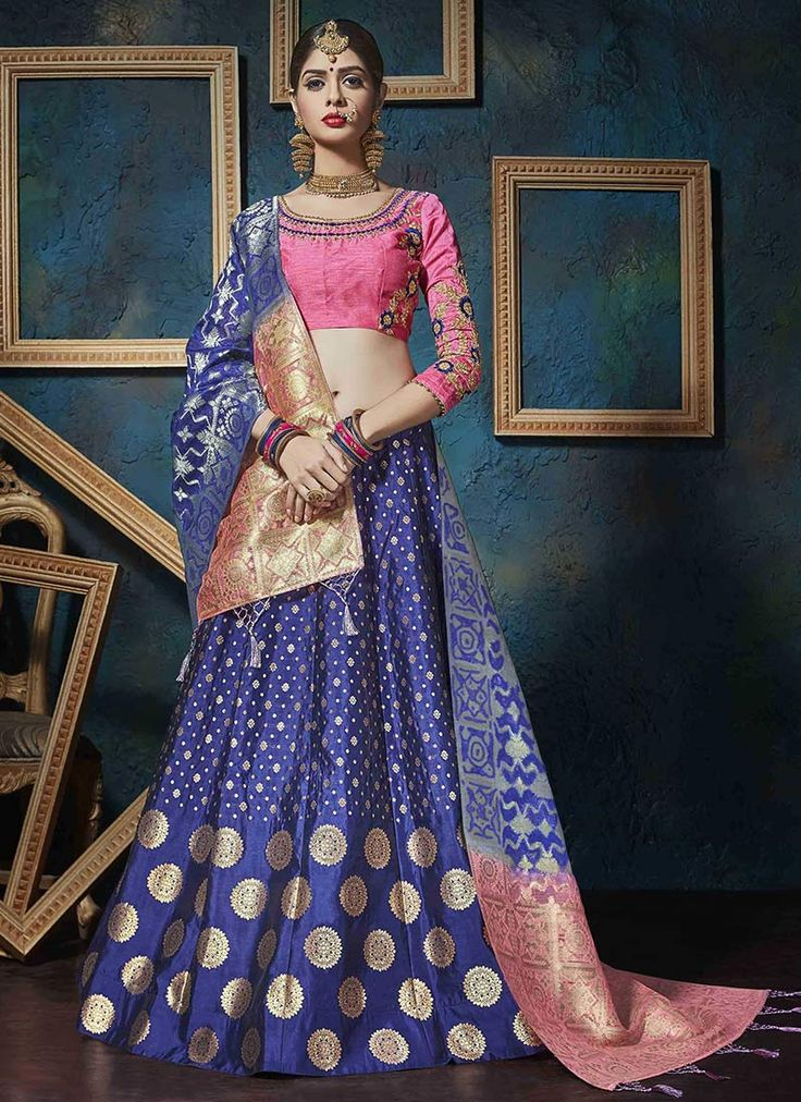 Buy Blue Art Silk A Line Lehenga online from the wide collection of a-line-lehenga.  This Blue colored a-line-lehenga in Art Silk fabric goes well with any occasion. Shop online Designer a-line-lehenga from cbazaar at the lowest price.