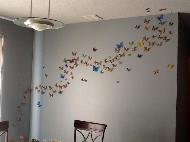 Unique Butterfly Wall Ideas On Pinterest Butterfly Wall Art - Wall decals butterfliespatterned butterfly wall decal vinyl butterfly wall decor