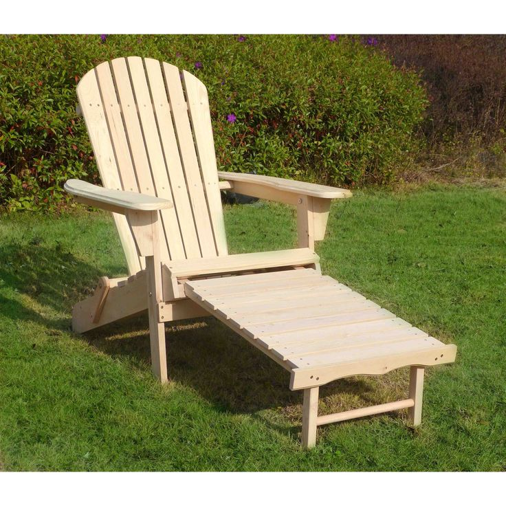 Merry Products Adirondack Chair Kit with Pullout Ottoman , Patio Furniture