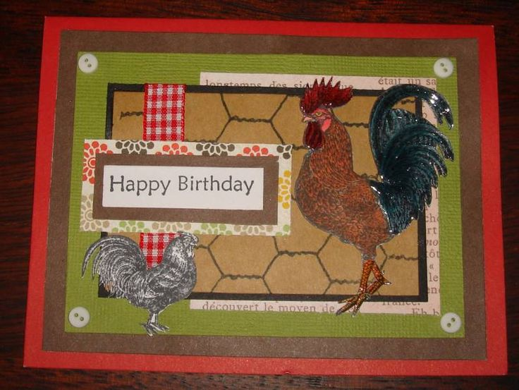 Rooster Birthday card by charlie horse - Cards and Paper Crafts at Splitcoaststampers