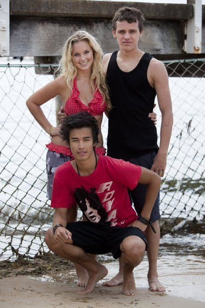 Jordan Rodrigues, Alicia Banit and Tom Green of Dance Academy