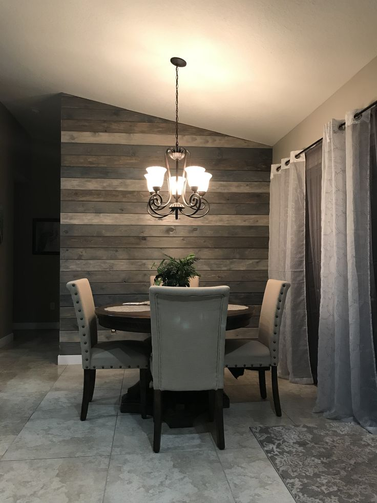 Multi-Color Shiplap to make a feature wall. Great blend of ...