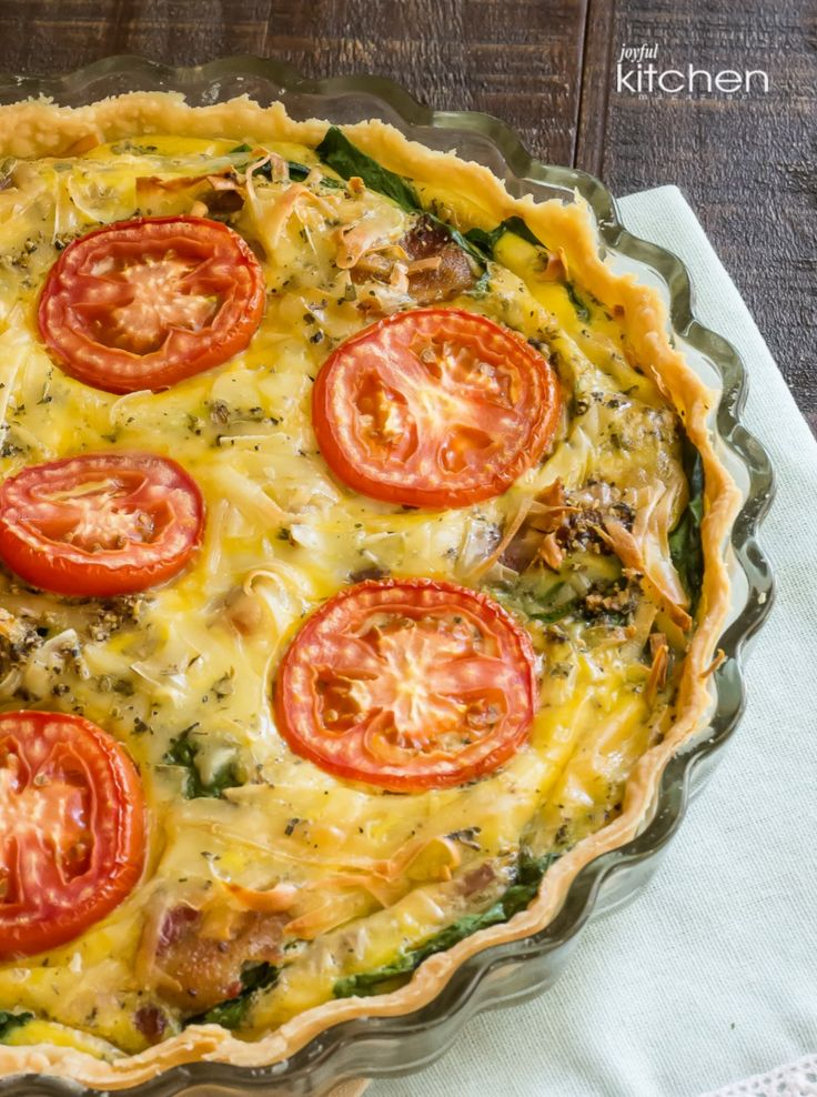 Spinach Bacon Quiche Provencal
