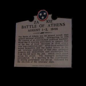 "Tyranny & The Battle of Athens, Tennesse | Ed That Matters: ""Maybe we are too weak!  Maybe we have lost the fire and sense of purpose that the Founding Fathers exhibited.  Or, let's not even go back that far.  Maybe we should be like the 'Greatest Generation' that experienced the depression and World War II?  They got things done, like the men of Athens and Etowa, Tennessee."" 