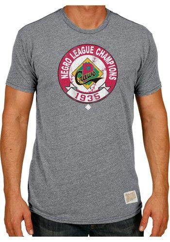 Original Retro Brand Pittsburgh Crawfords Grey 1935 Champs Short Sleeve  Fashion T Shirt  5d5dc22d6