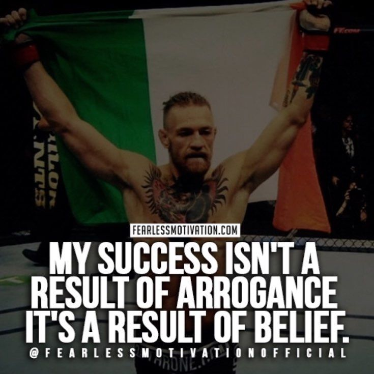 Always Believe In Yourself Conor Mcgregor Quotes Life Quotes Daily Affirmations