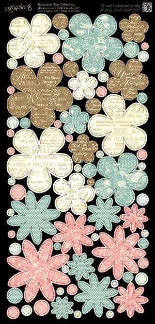Cardstock Flowers 2 from our new collection, Botanical Tea! In stores in early February #graphic45 #newcollections
